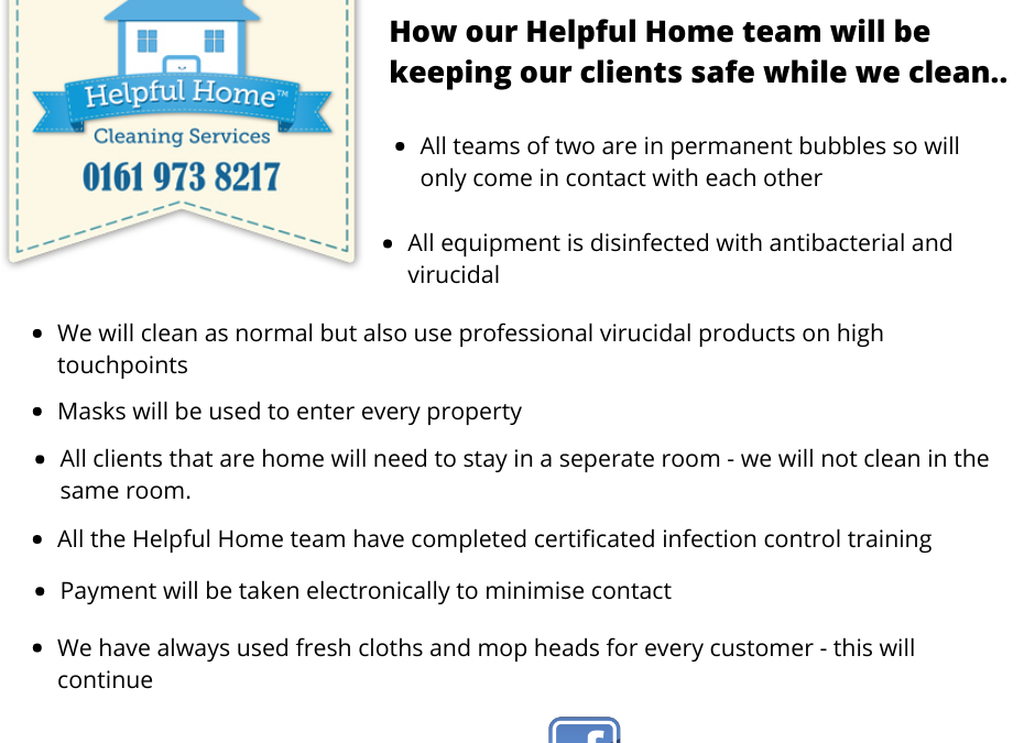 How Helpful Home is keeping our clients safe while we clean…