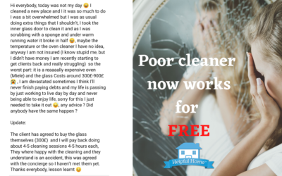 Poor Cleaner works for free